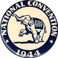 Thomas Dewey: Republican National Convention souvenir button (1944)