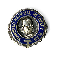Francis Townsend: Enamel National Recovery Plan lapel pin