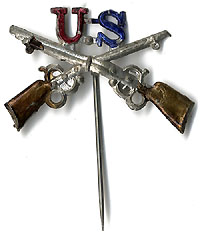 Spanish-American War: Crossed rifles badge