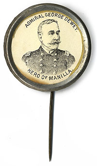 George Dewey: HERO OF MANILLA portrait badge