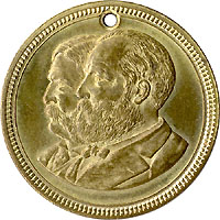 Garfield and Arthur: High grade jugate campaign medalet