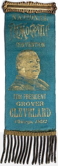 Grover Cleveland: 1892 Democratic Convention portrait badge
