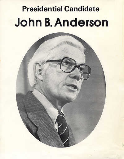 Presidential Candidate John B. Anderson