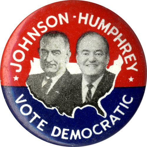 Johnson-Humphrey Vote Democratic