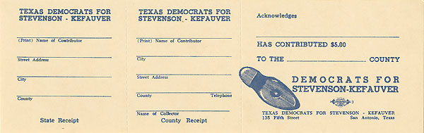 Texas Democrats for Stevenson-Kefauver