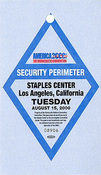 2000 DNC Los Angeles - Security Perimeter