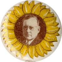 Alfred Landon: Classic sunflower portrait button