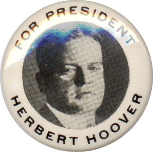 Herbert Hoover: FOR PRESIDENT picture button
