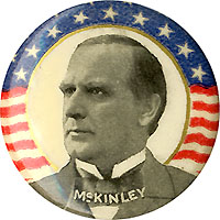 William McKinley: Classic stars-and-stripes pinback