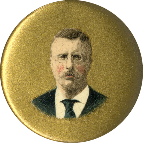 Theodore Roosevelt: 1904 campaign chromo pinback