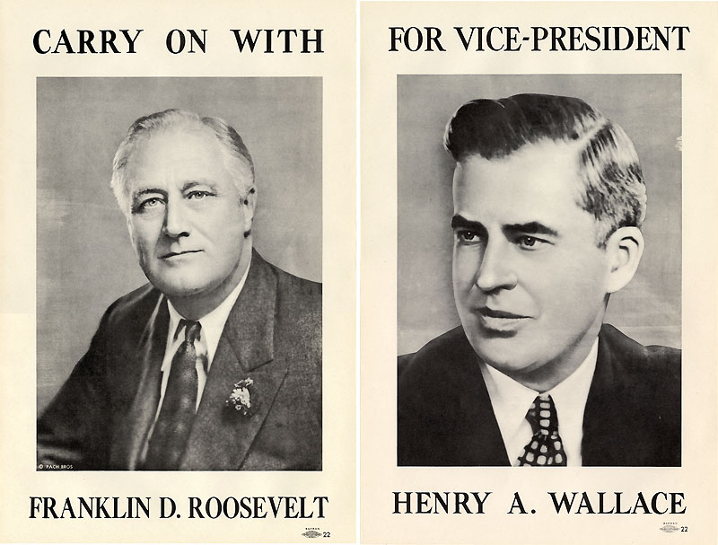 1940 Roosevelt-Wallace poster set