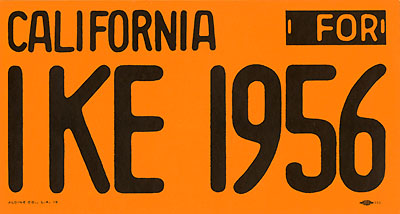 California for IKE 1956