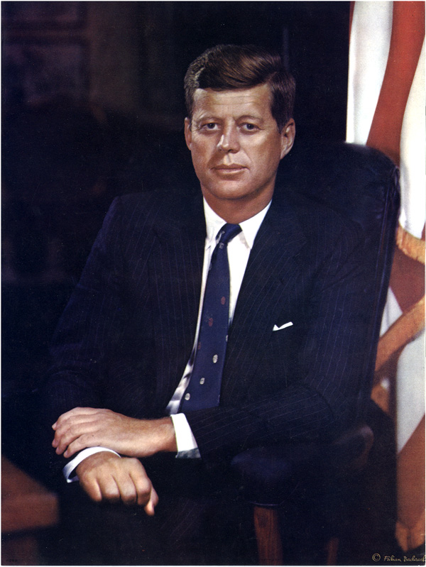 John F. Kennedy official presidential portrait