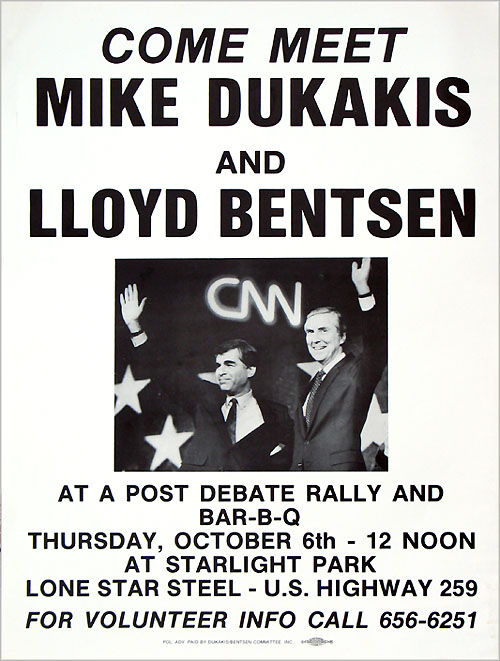 Come Meet Mike Dukakis and Lloyd Bentsen