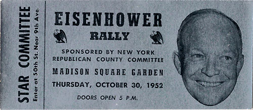 Eisenhower Rally Madison Square Garden