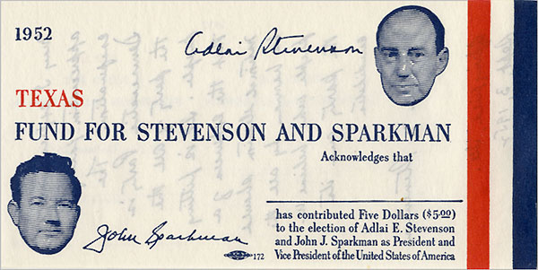 Texas Fund for Stevenson and Sparkman