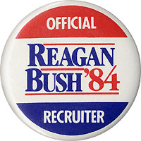 Reagan Bush '84 Official Recruiter