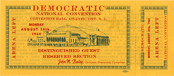 1964 DNC Atlantic City - Distinguished Guest
