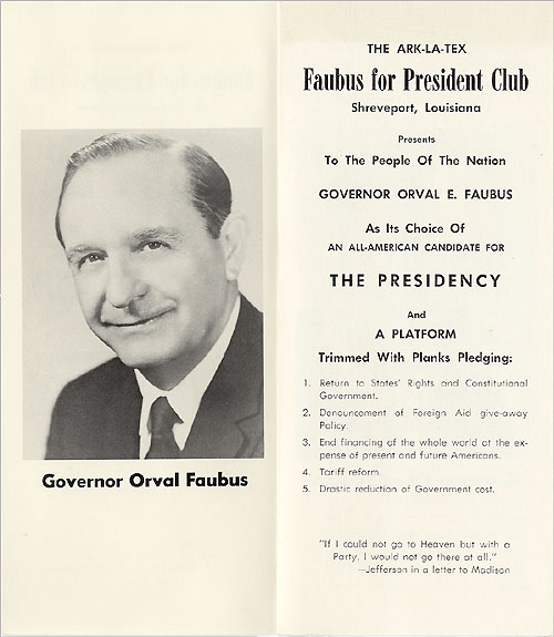 The ARK-LA-TEX Faubus for President Club