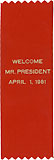 Welcome Mr. President April 1, 1981