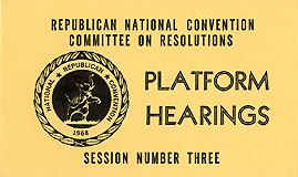 1968 RNC Miami Beach - Platform Hearings