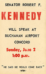 Senator Robert F. KENNEDY will Speak at Buchanan Airport