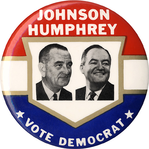 Johnson Humphrey Vote Democrat