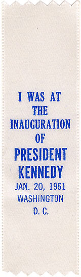I was at the Inauguration of President Kennedy