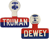 Truman and Dewey: Matching collar tabs