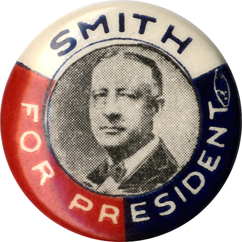 Alfred Smith: Variant Smith for President picture button