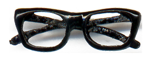 Barry Goldwater: Trademark horn-rim eyeglasses lapel pin