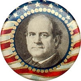 William Jennings Bryan: Classic flag border picture button