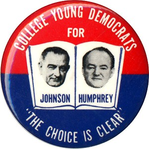 College Young Democrats for Johnson Humphrey