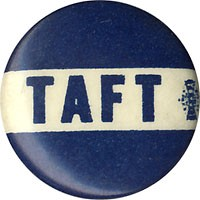 William Howard Taft: Blue band TAFT logo button