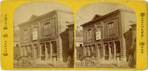 Grant and Colfax: Massachusetts Grant Club Campaign Headquarters Stereoview