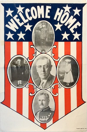 Woodrow Wilson and John Pershing: WWI Welcome Home poster