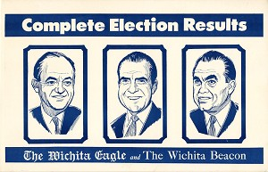 1968 Election: Complete Election Results newspaper advertising placard