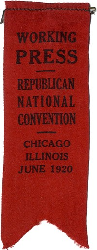 Charles Hughes: Working Press / Republican National Convention