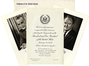 1965 Official Inaugural Invitation