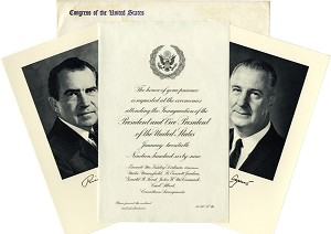 1969 Official Inaugural Invitation