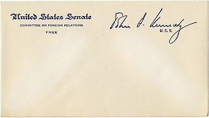 John F. Kennedy: United States Senate free-franked envelope