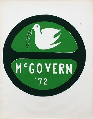 George McGovern: Classic peace dove poster