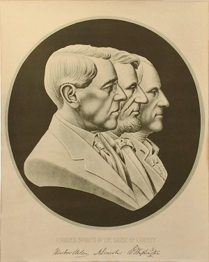 Woodrow Wilson: Kindred Spirits in the Cause of Liberty rare poster