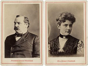 Grover and Frances Cleveland: Pair of cabinet cards
