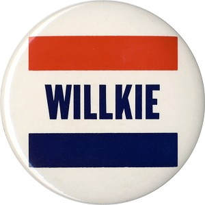 "Wendell Willkie: Bold 6"" name button"
