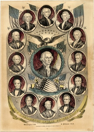 Millard Fillmore: United States presidents Currier print
