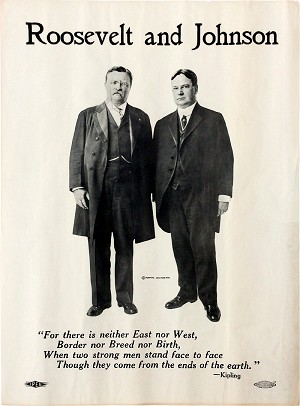Roosevelt and Johnson: Classic 1912 jugate campaign poster