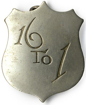 William Jennings Bryan and Free Silver: 16 TO 1 shield badge