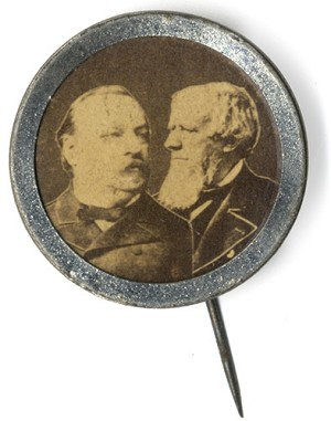 Cleveland and Thurman: Unlisted jugate campaign badge