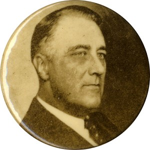 Franklin Roosevelt: Uncommon photo button